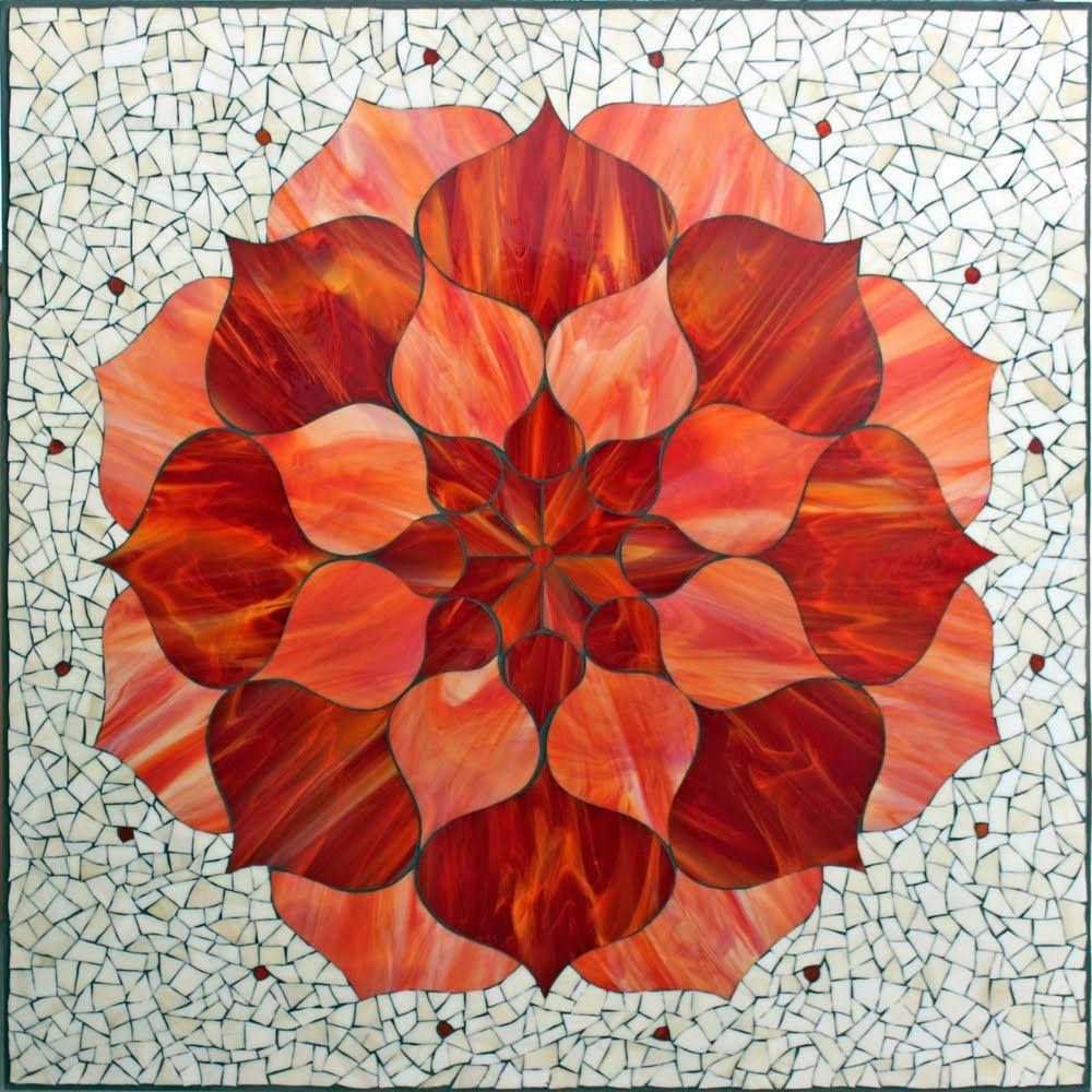 Red Lotus Flower Kasiamosaicsstorespot Mosaic Art 2a