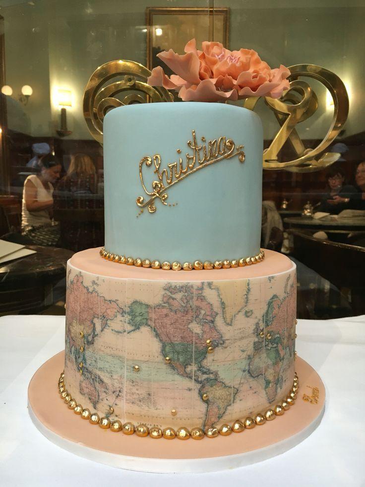 World map cake theresa mhlegger demel birthday ideas world map cake theresa mhlegger demel gumiabroncs Images