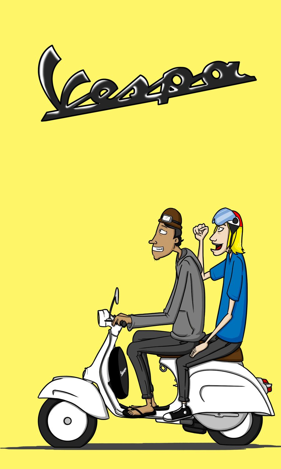 Vespa Scooter Cartoon More From Deviantart With Images Vespa