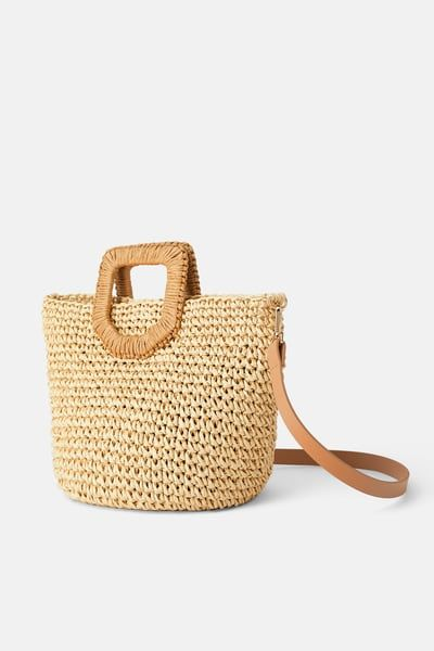 Woven Paper Basket Bag