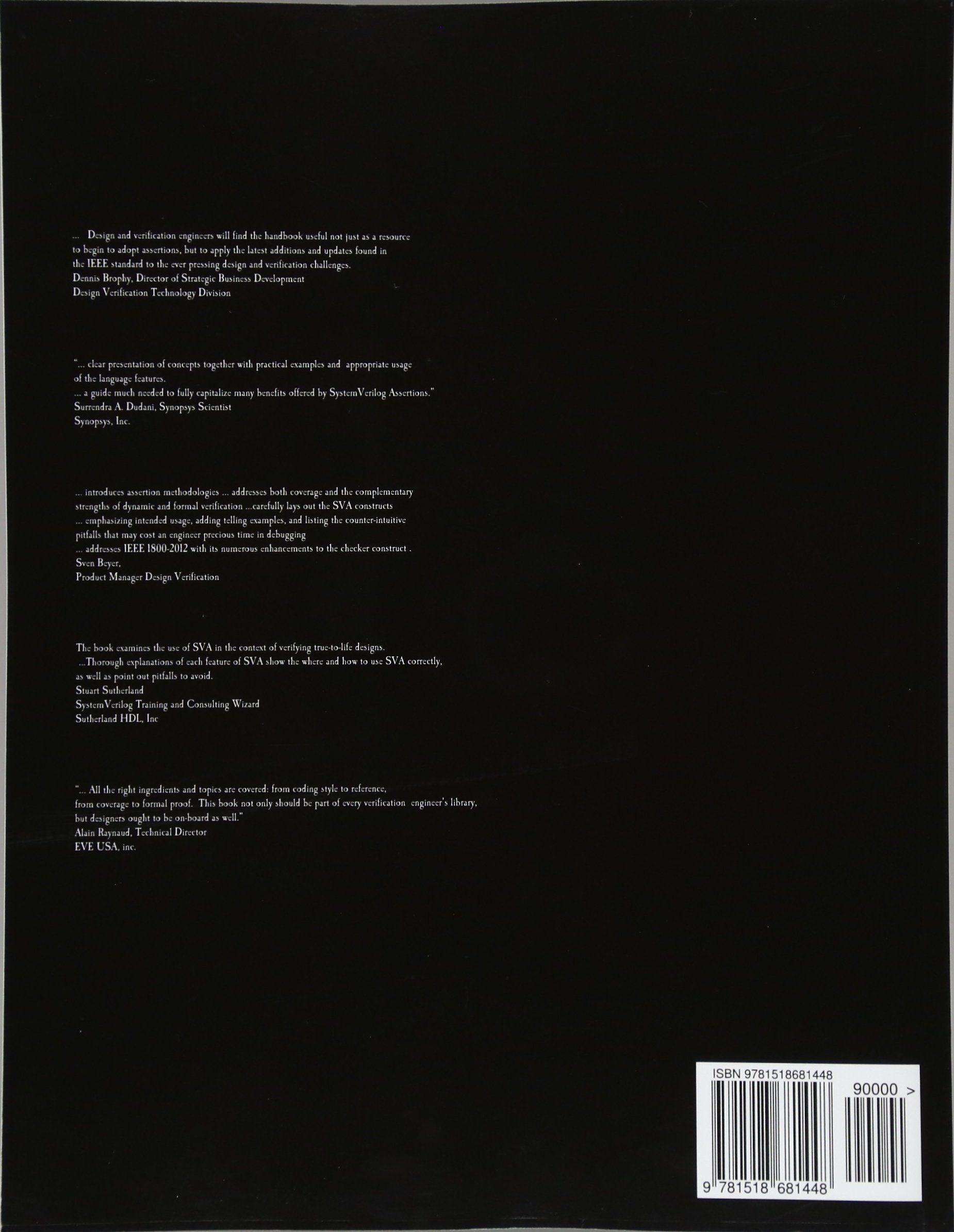 SystemVerilog Assertions Handbook, 4th Edition:     for