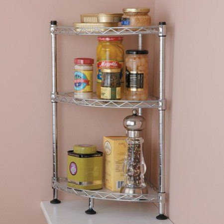 Tabletops Gallery Stax Living Kitchen Countertop Racks Corner Shelf Home 34 95 Says Each Can Hold Up To 60 Lbs