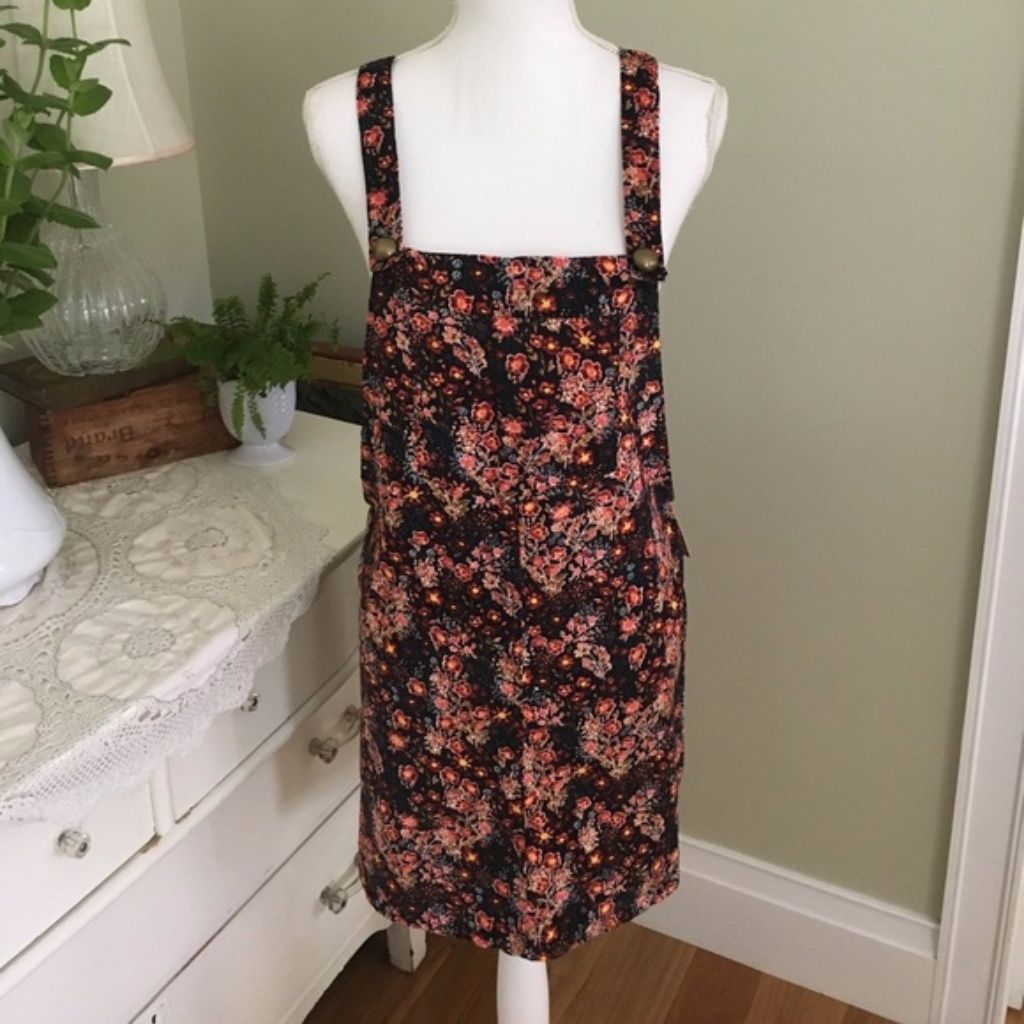 Nwt xhilaration fall floral corduroy overall dress products