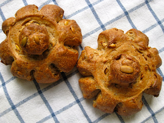 Tiroler Kuerbiskernbrot - Tyrolean Pumpkin Seed Mini Breads | The Fresh Loaf #pumpkinseedsrecipebaked