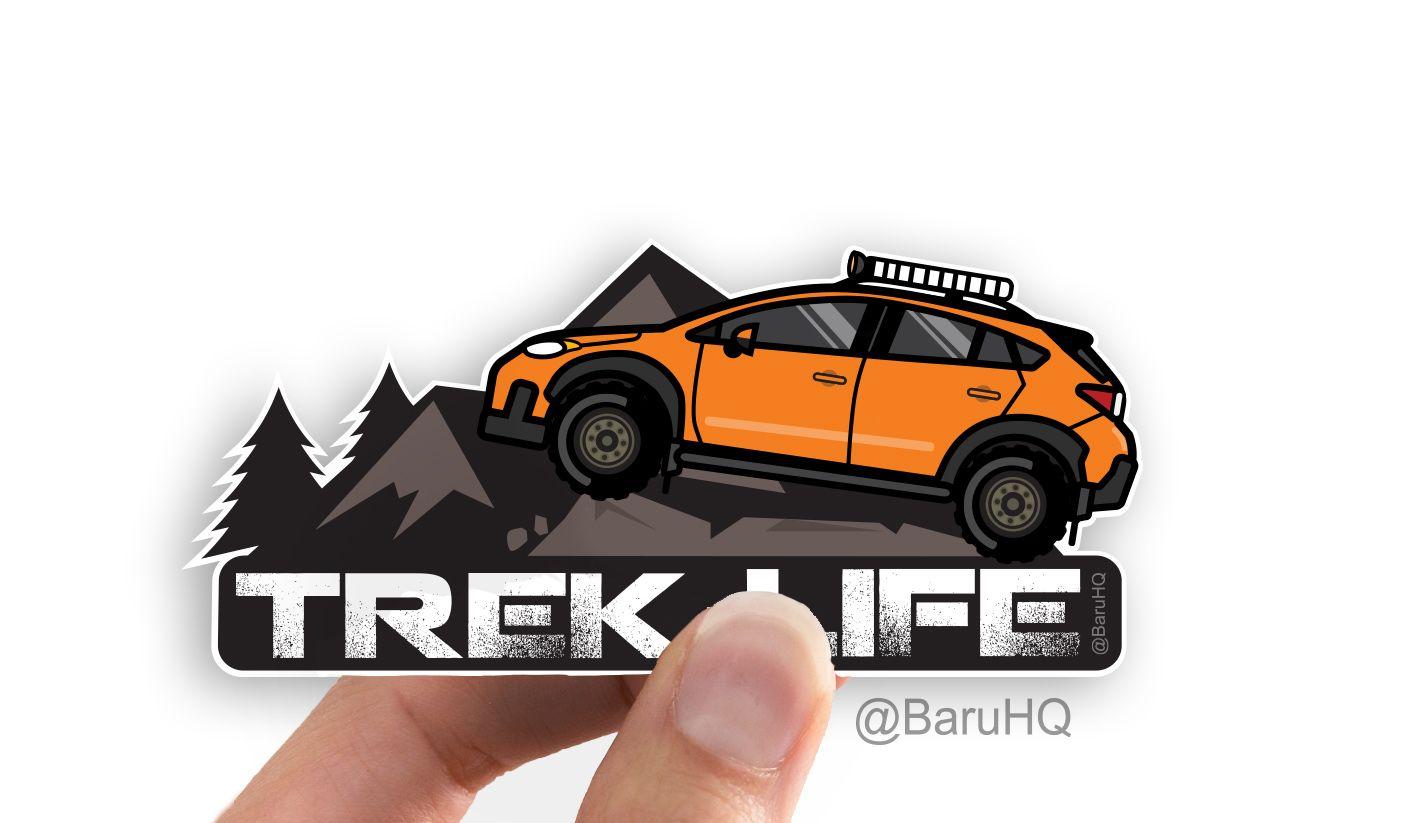 Orange Subaru Crosstrek Subaru Car Vinyl Decal Subaru Sticker Subaru Crosstrek Subaru Car Decals Vinyl