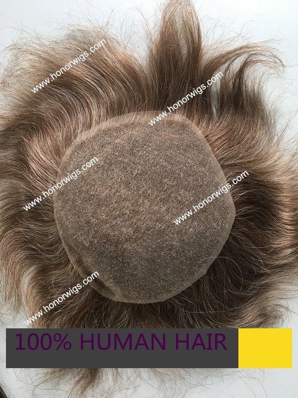 """91.67$  Buy here - http://aliyol.worldwells.pw/go.php?t=32657393006 - """"swiss lace base design blond and gray color 6""""""""x8"""""""" 7""""""""x9"""""""" human Indian remy hair 40% grey color men's toupee custom order HT281"""" 91.67$"""