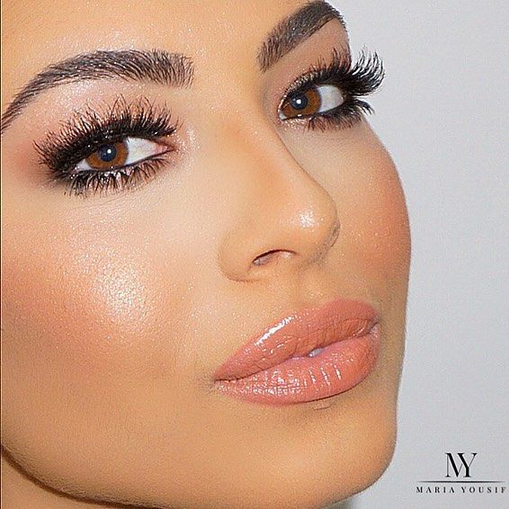 B E A U T I F U L ✨ #MariaYousifMakeupArtist // Brows @anastasiabeverlyhills @norvina brow wiz 'medium brown' brushed and coated with clear brow gel // Lashes @hudabeauty 'Giselle' and 'Samantha' stacked @shophudabeauty