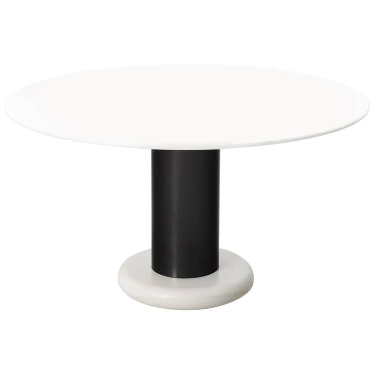 Ettore Sottsass Marble Pedestal Dining Table 1 Dining Table