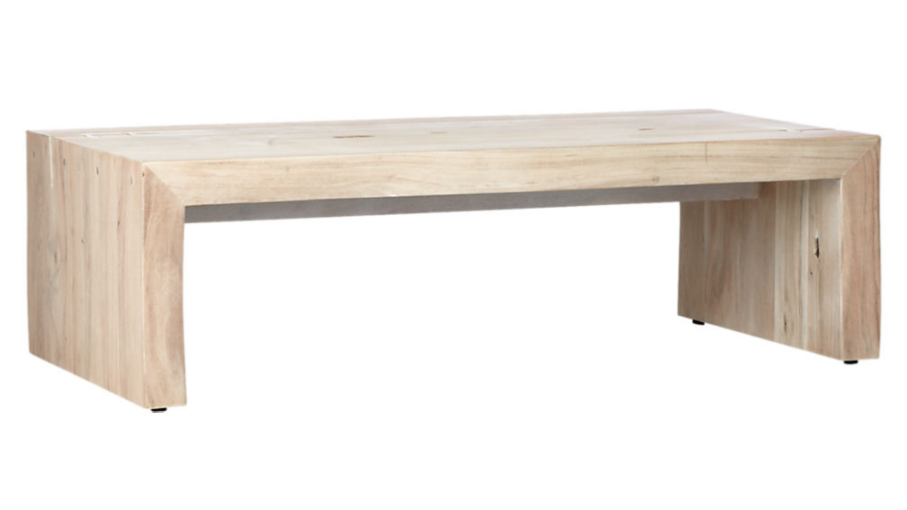 blanche bleached acacia coffee table