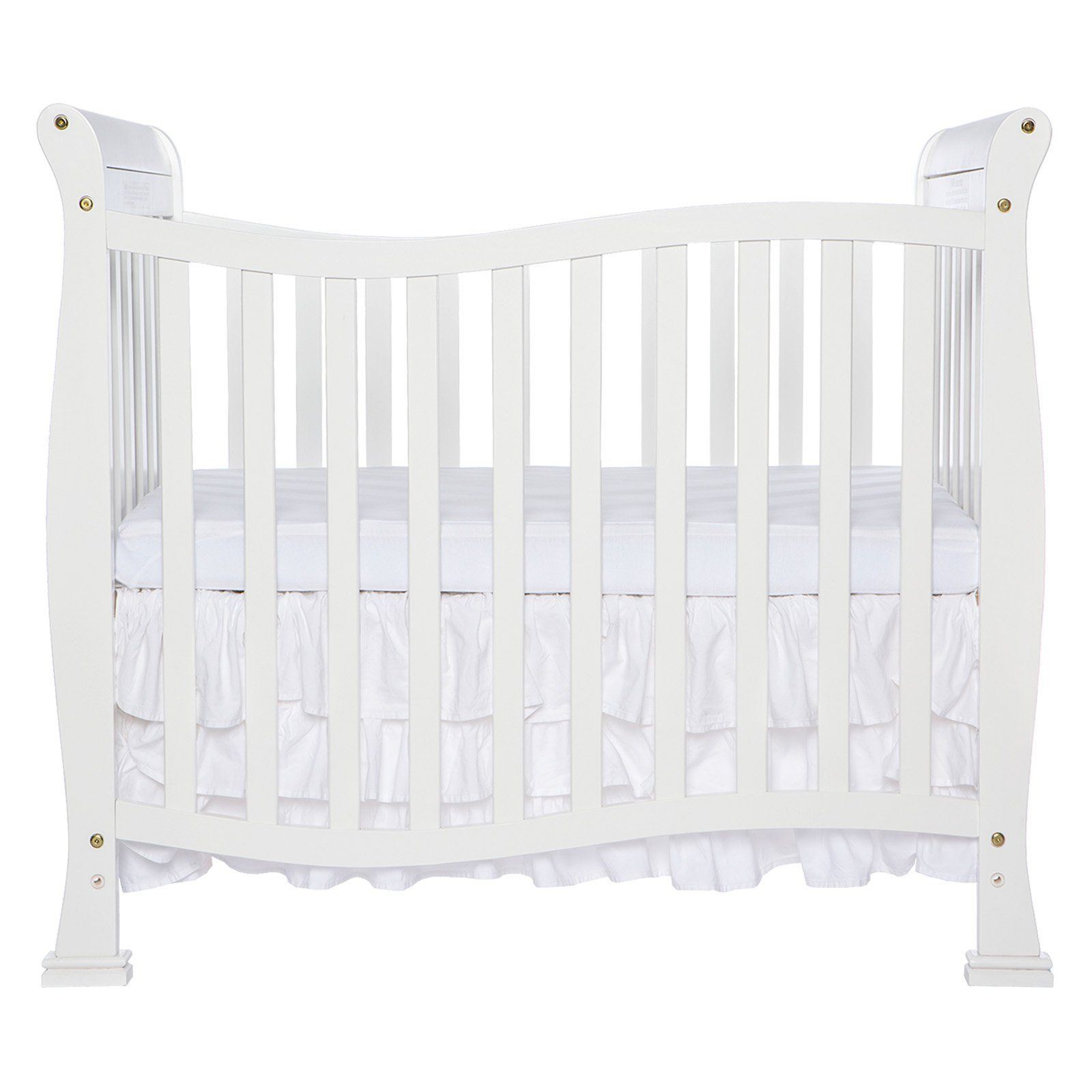 Dream On Me Piper 4 In 1 Convertible Mini Crib White Mini Crib Cribs Dream On Me
