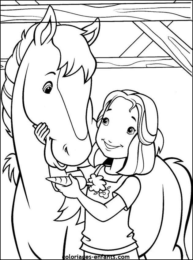 Coloriages de chevaux pour enfants pferde pinterest - Coloriage chevaux imprimer ...