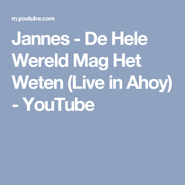 Weten Live