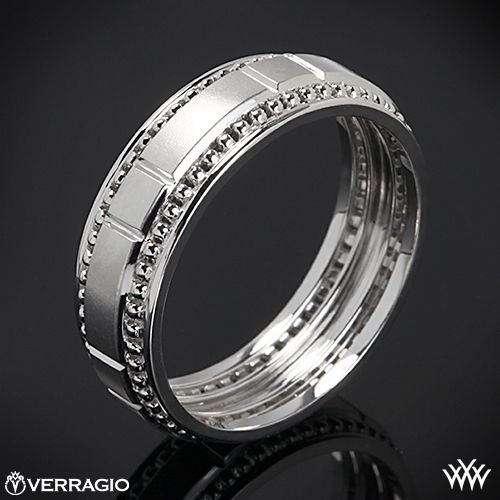 This Men S Verragio Wedding Ring Features A Compelling Design That
