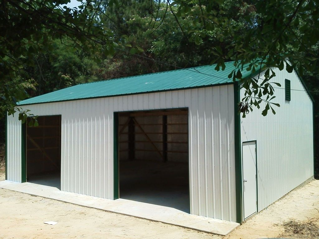 30x40x12 garage national barn for Pole barn home plans with garage