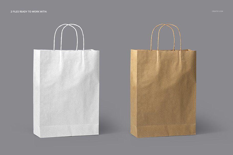 Download Paper Bag Mockup Set Paper Bag Design Bag Mockup Paper Bag