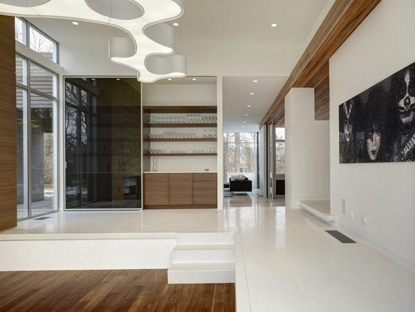 White Flooring Modern Lifestyle in Cleveland Neat Rectangular