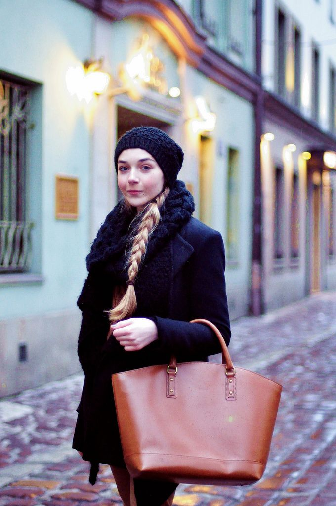 braid and leather bag