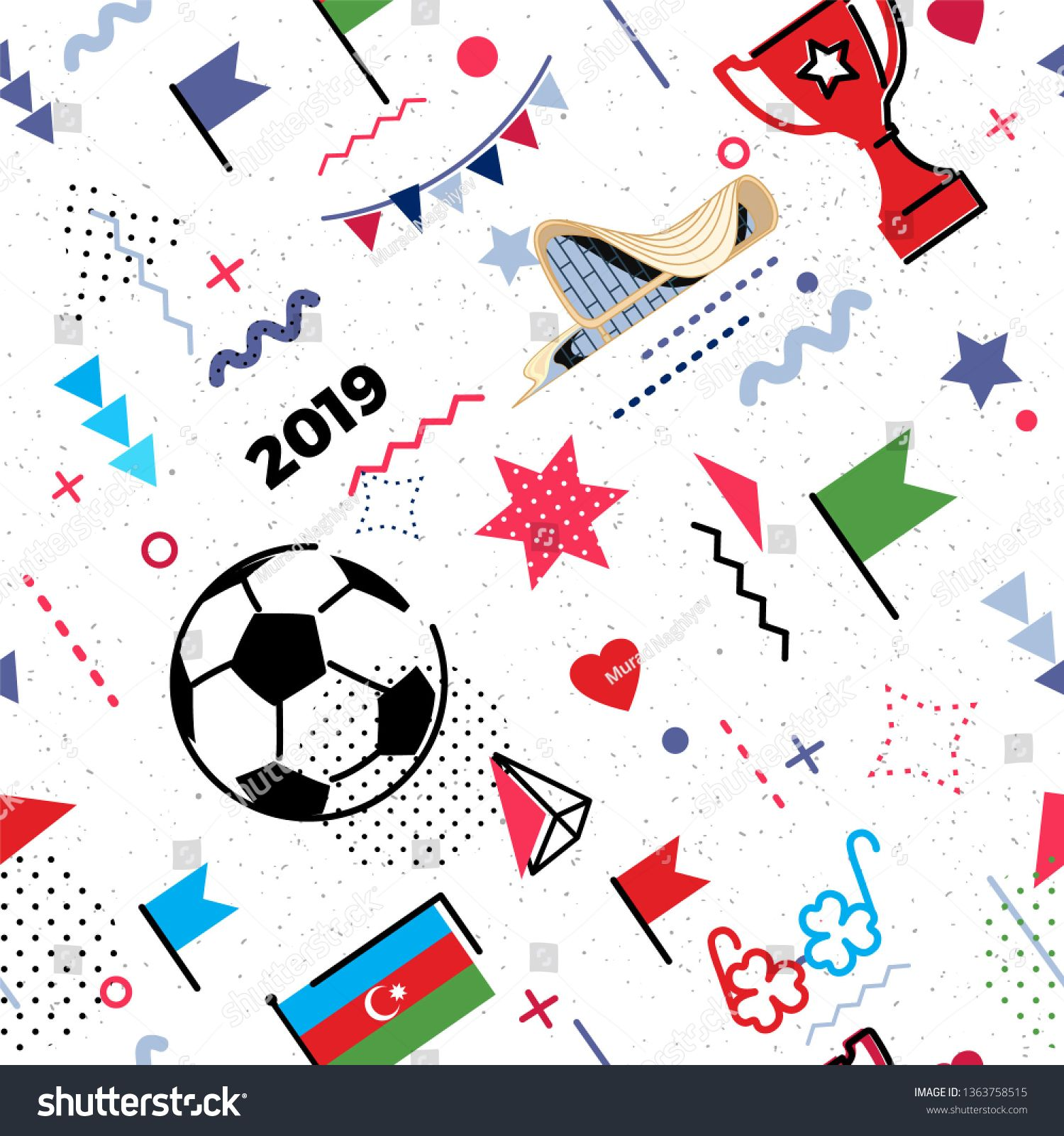 Azerbaijan Flag Baku Soccer Football Abstract Background In 80s Memphis Style Seamless Memphis Pattern For In 2020 Abstract Backgrounds Free Illustrations Free Icons
