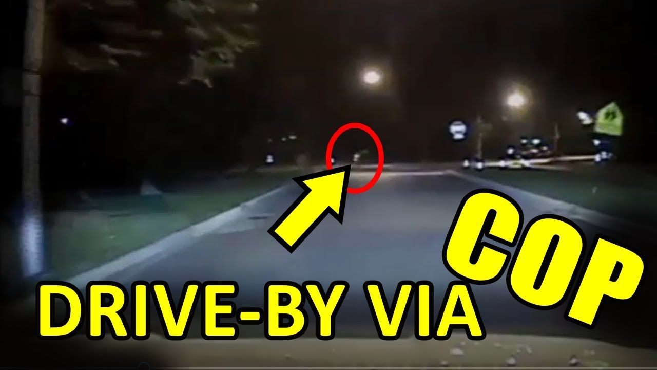 SHOCKING COP DRIVEBY CAUGHT on PRIVATE SECURITY CAMERA