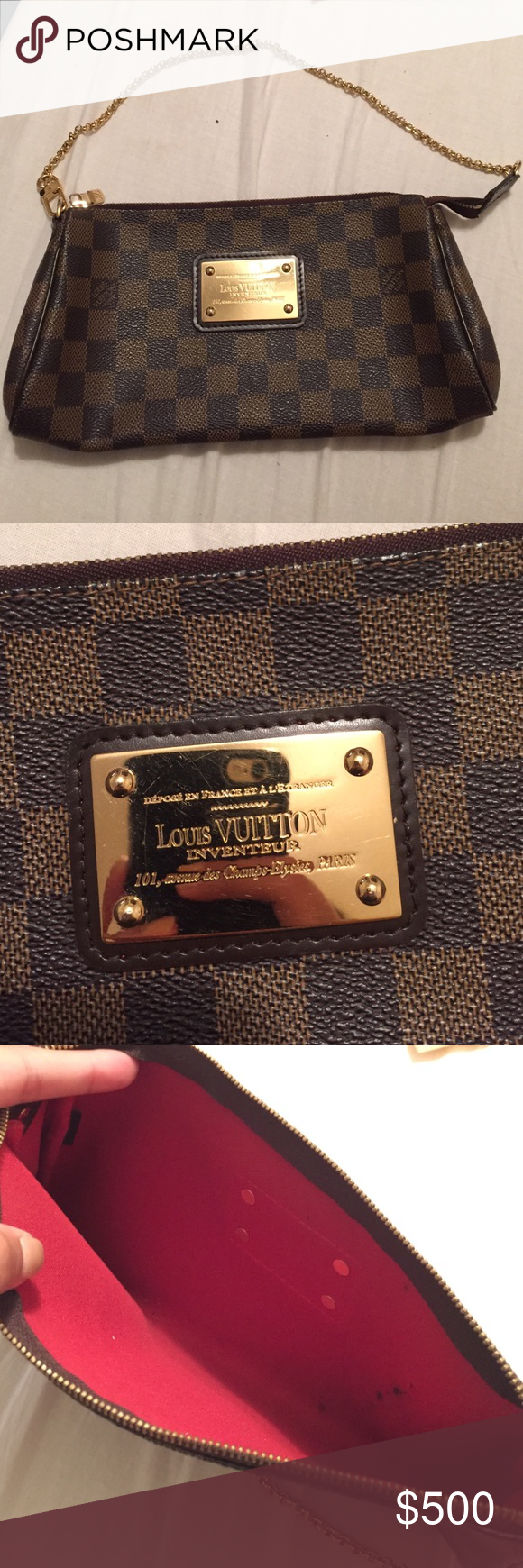 Louis Vuitton Clutch Authentic Louis Vuitton clutch, serial number D04018,  original bag but no tags. Got it as a gift from my mom but never used.