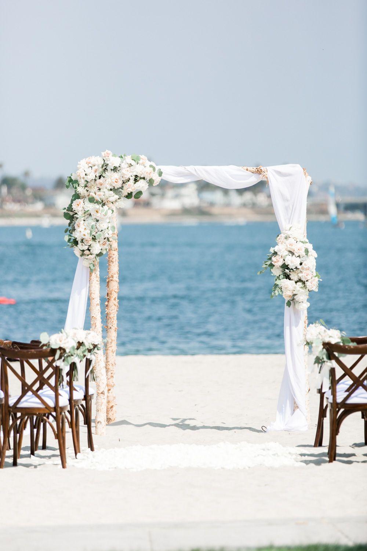 Romantically Lush Beach Wedding in Southern California