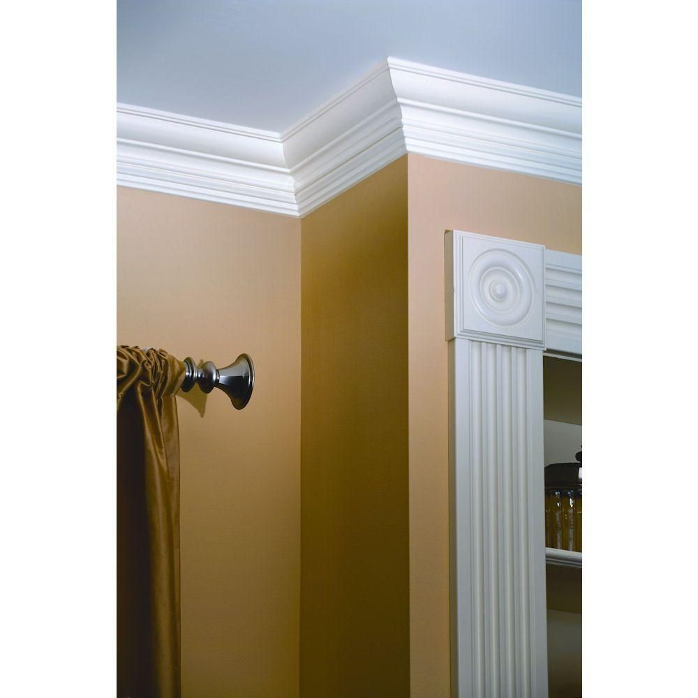 House Of Fara 3 4 In X 4 1 2 In X 8 Ft Mdf Crown Moulding 8659 Home Dream Home Design Diy Kitchen Budget