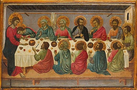 "Ugolino da Siena, ""The Last Supper"", 1325-1330, The Metropolitan Museum of Art, New York, USA."