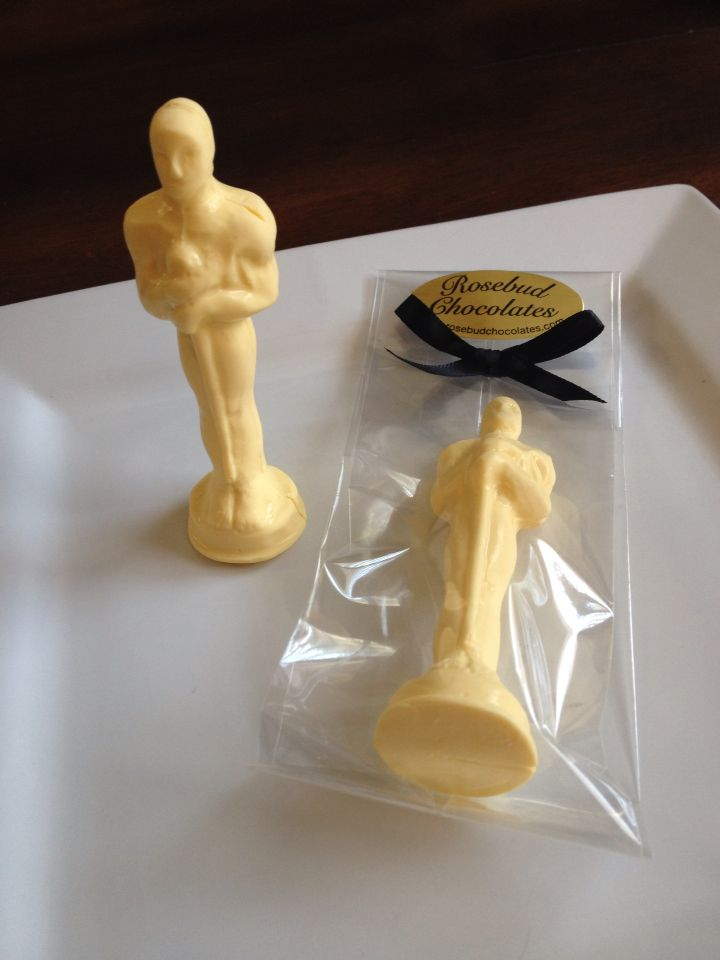 Chocolate Oscar Party Statue Award Candy Favor Hollywood Movie Theme www.rosebudchocolates
