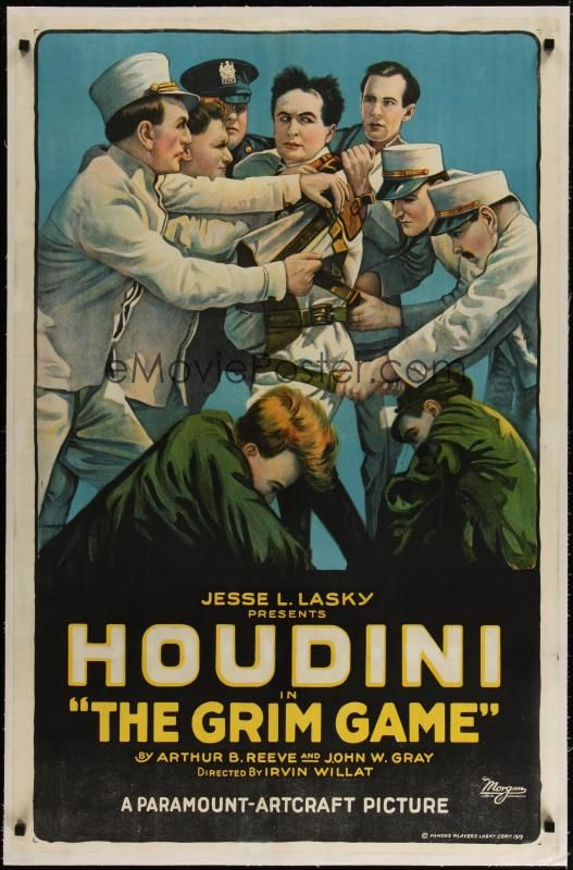 Movie Poster Collector S Guide Harry Houdini Houdini Poster Movie Posters Vintage