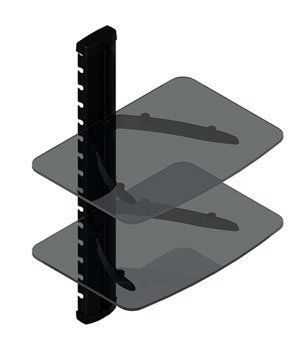 2 Shelf Wall Mount For Audio Video By Universalmounts 28 75