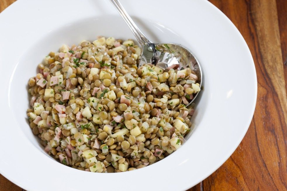 Lentils With Apples and Ham