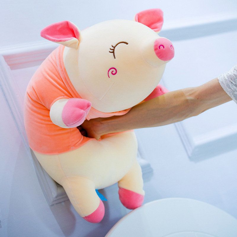 Pig Toy Plush Doll Soft Animal Mini Pig Pendant Key Chain Pig Small Size