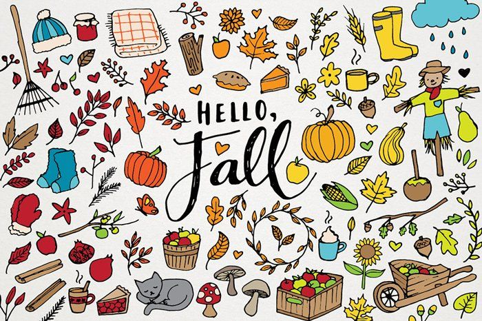 Hello Fall! Autumn 100 Clipart Set Autumn#Set#Fall #affiliate #hellofall