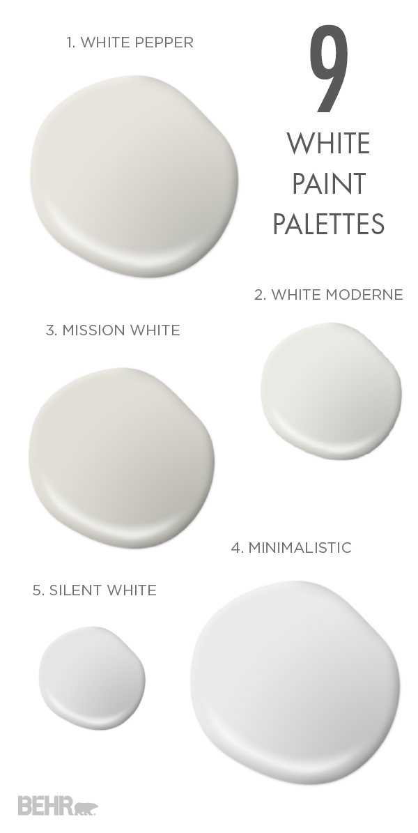 Everyone Knows That No Two White Colors Are The Same So Pick Perfect Bright Shade For Your E With These 9 Paint Palettes As Fresh