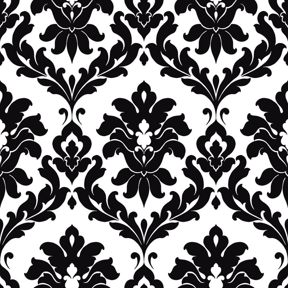 Damask By Galerie Black White Wallpaper Vg26230p