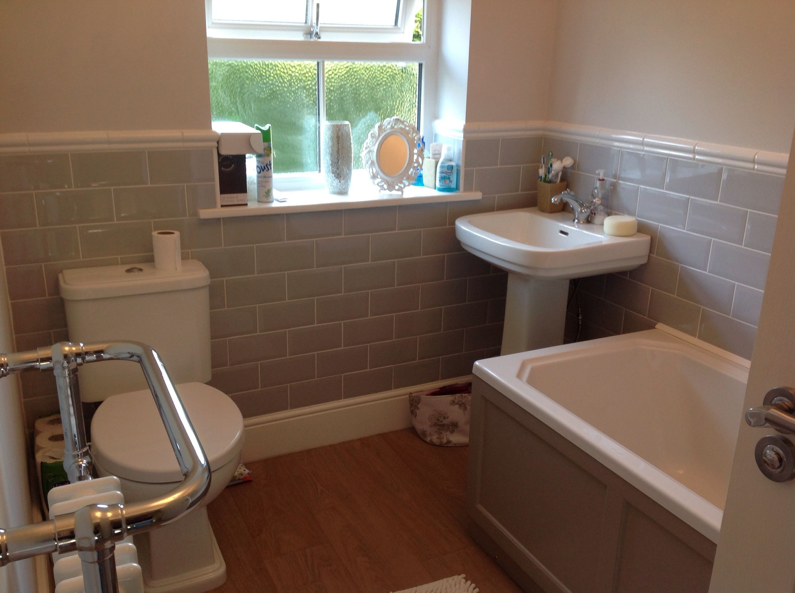 grey metro tiles rac decor bathroom roper rhodes hampton bath panel traditional towel