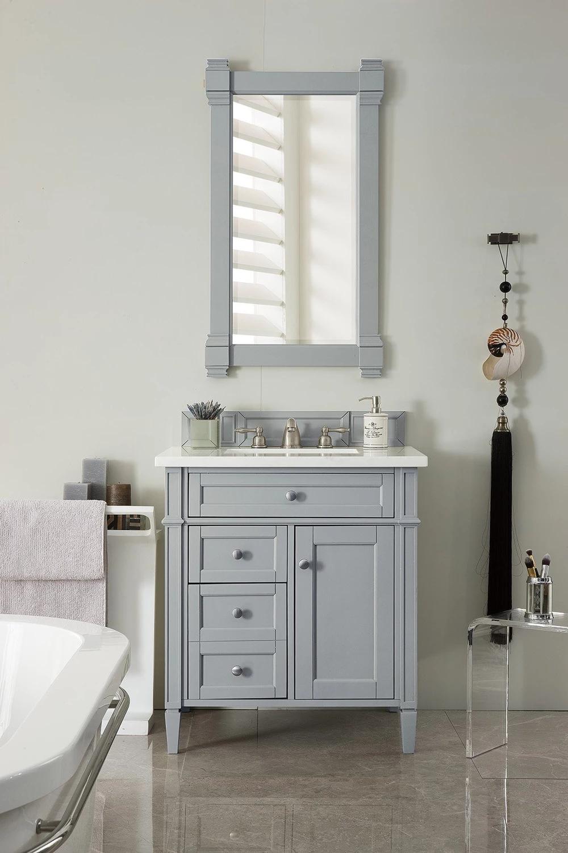 30 Brittany Urban Gray Single Sink Bathroom Vanity Single Sink Bathroom Vanity Bathroom Sink Vanity Bathroom Vanity