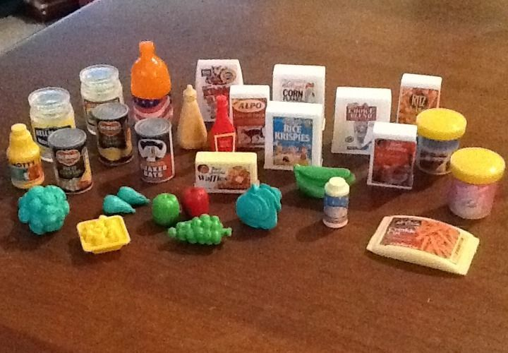Barbie Toy Food : Barbie food accessories pantry grocery store lot of