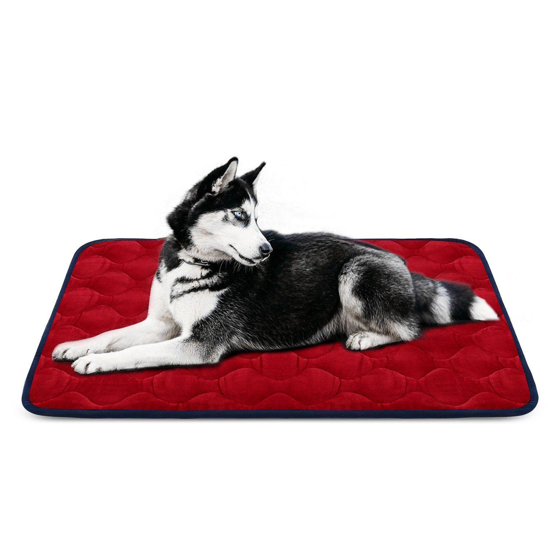 sleeping dog bed mat soft fleece anti slip machine washable pad by