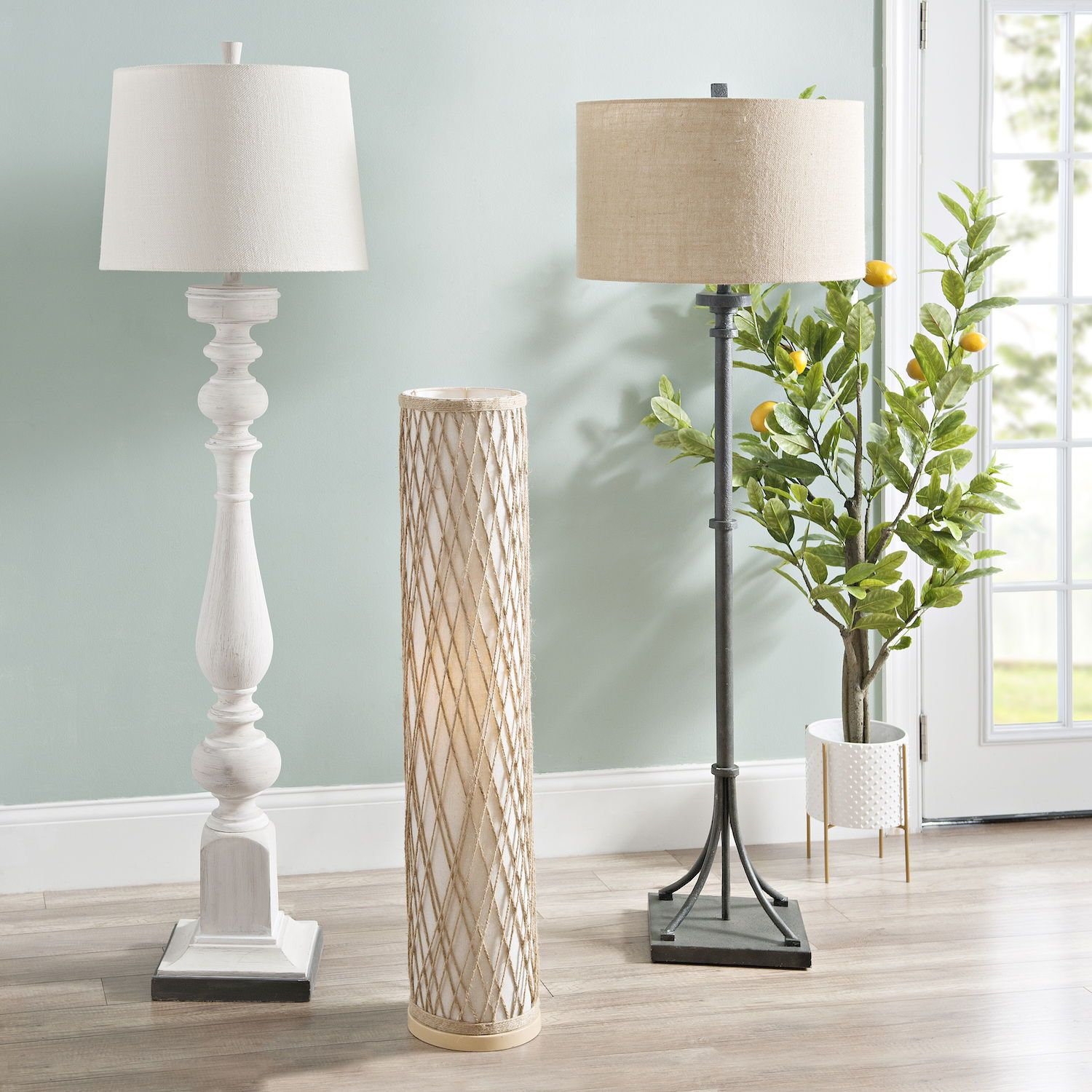 Beachy Vintage Rustic Or Modern We Ve Got The Floor Lamp You Need Scroll Through Our Coastal Living Rooms Coastal Decorating Living Room Coastal Interiors