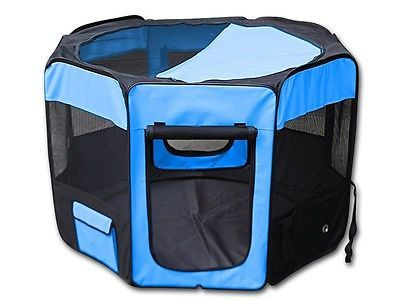 Buy Luniquz Portable Dog Pen Fabric Pet Playpen With Removable Mesh Cover 8  Panels, At Online Store