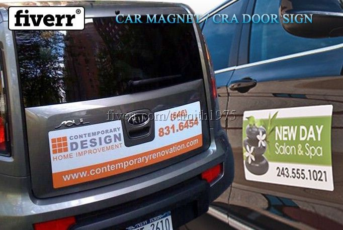 Create A Amazing Car Or Truck Magnet Sign Magnetic Car Signs