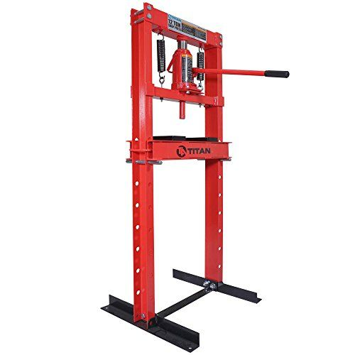 Titan 12 Ton Hydraulic Shop Floor Press H Frame 24000 Lb Heavy Duty Steel Plates H Frame Steel Plate Plated Reviews