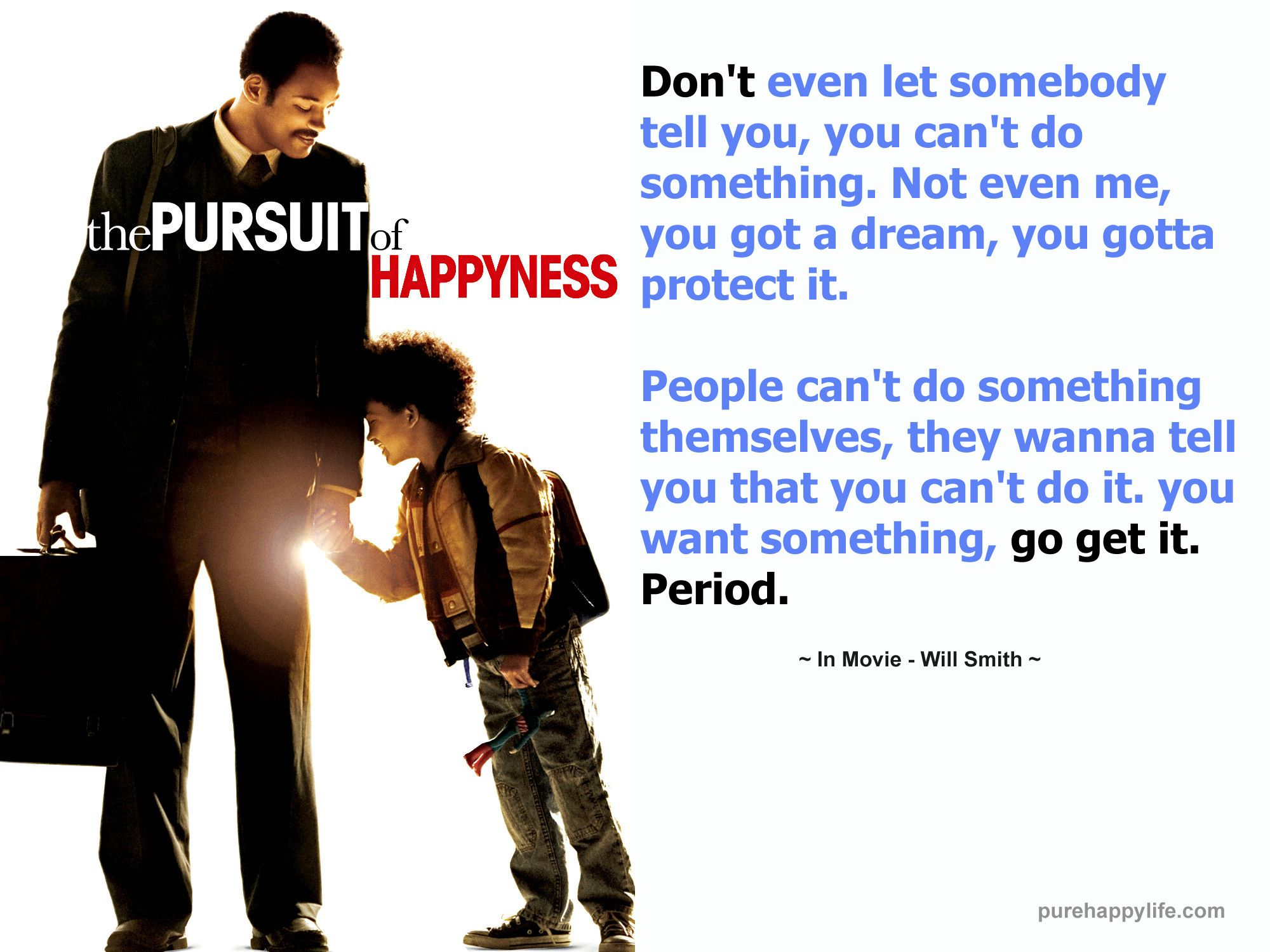 pursuit of happiness movie analysis Review: will smith gives a fantastic, selfless performance  i was covering will  smith's new movie, the pursuit of happyness, the only thing he.