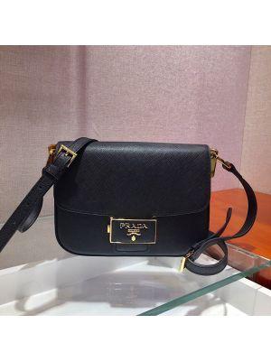 Prada Embleme Saffiano Leather Bag 1bd217 Black Purses And