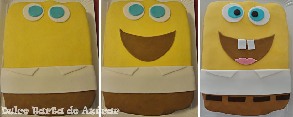 Tutorial Bob Esponja http://dulcetartadeazucar.blogspot.com.es/