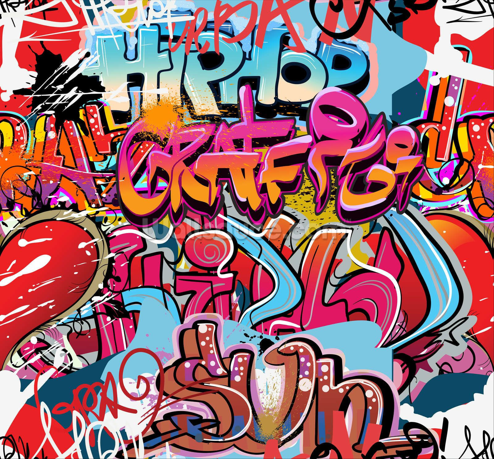Graffiti art ideas - Hip Hop Graffiti Wall Mural