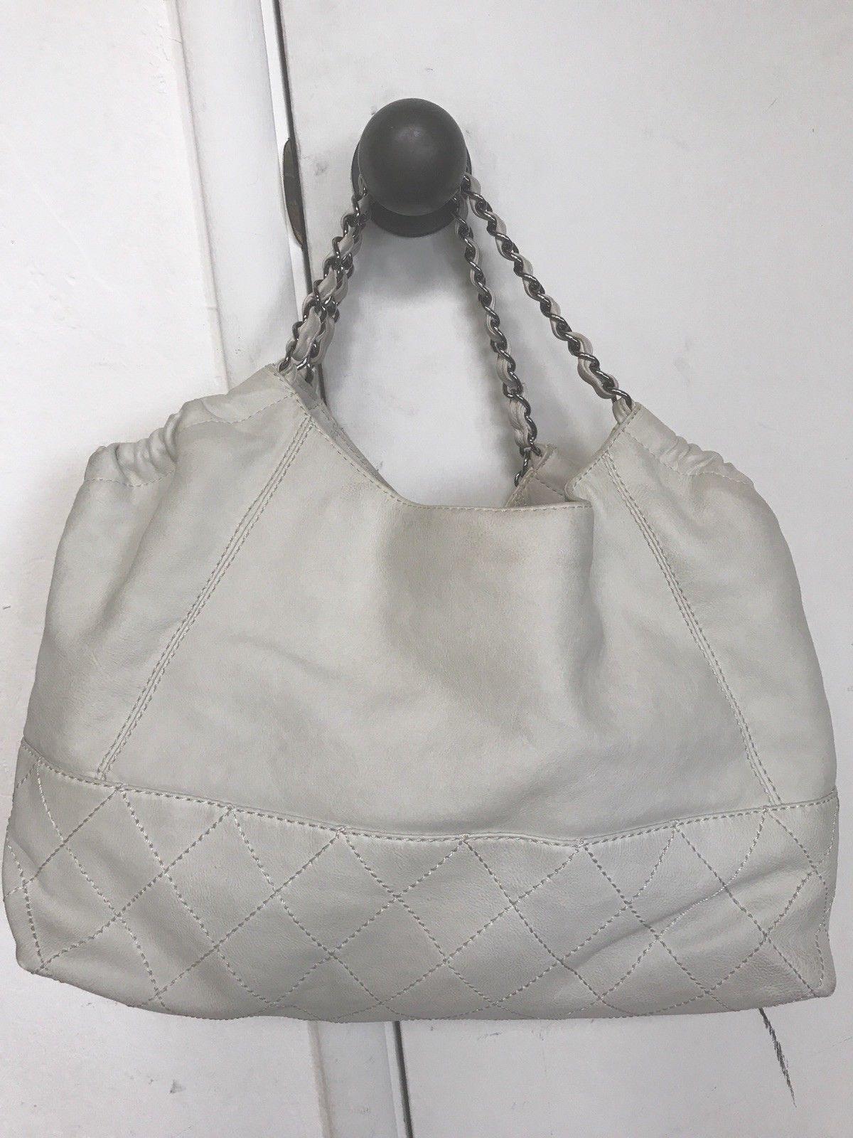 1e52f5e2b Auth Chanel Handbag Ivory white Leather Coco Cabas Tote handbag shoulder bag  $425.0 #chanel #handbag