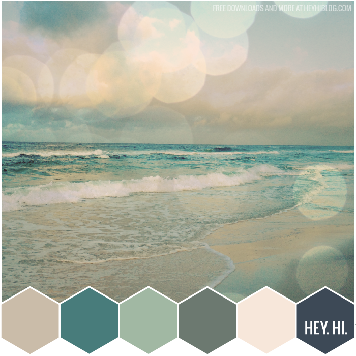 Color Palette Styleboard Muted Coastal Seaside Colors