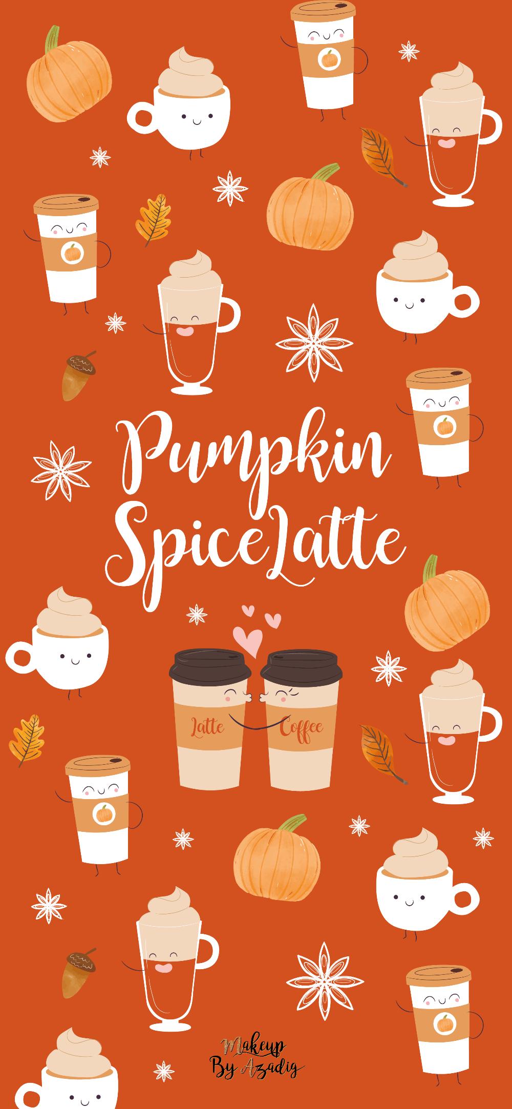 17 Fond D Ecran Pumpkin Spice Latte Wallpaper Makeupbyazadig Fond D Ecran Halloween Iphone Fond D Ecran Telephone Fond Ecran Halloween
